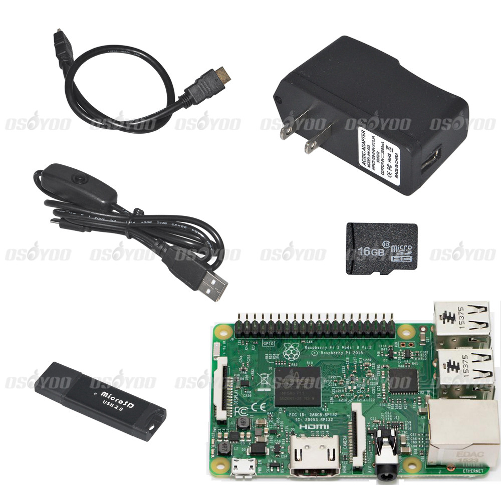 Raspberry Pi 3 Model B+HDMI cable+16GB TF Card w/ card reader+Power Cable with Switch and US Plug Kit FreeShipping&Drop Shipping yokatta model 19 6x15 4x108 et27 d65 1 w b