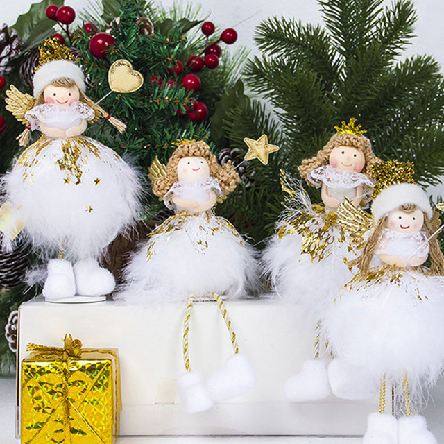 christmas decorations for home christmas angel doll toy christmas tree decorations xmas kids new year gifts - Christmas Angel Decorations