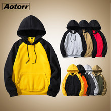 Hoodies Men Thick Clothes Autumn Pullover Patchwork Sweatshirts Mens Casual Clothing Youth Hoodie Fleece Streetwear Unisex Hoody(China)