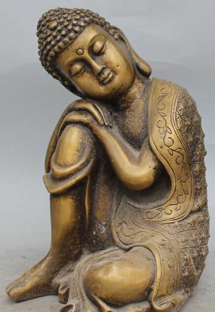10 Tibet Buddismo Pure Bronzo Shakyamuni Dormire Amitabha Buddha Scultura Statua R070910 Tibet Buddismo Pure Bronzo Shakyamuni Dormire Amitabha Buddha Scultura Statua R0709