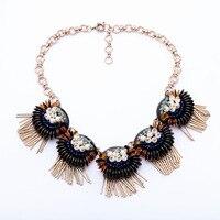 Trending Celebrity Jewelry 2015 New Statement Pearls Flowers Bib Necklaces Pendants Shourouk Accessories