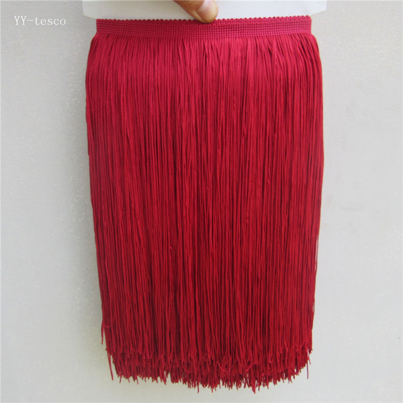 Red Fringe Trim Tassel 6 inch Wide 5 Yards Long for Clothes Accessories Latin Wedding Dress DIY Decoration