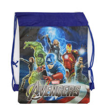 1Pc Spider-Man Drawstring Bag School Backpack for Boys Avengers bag Kids Cartoon Book