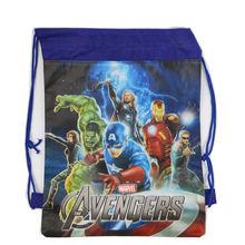 1Pc Spider-Man Drawstring Bag School Backpack for Boys Avengers bag Kids Cartoon Book