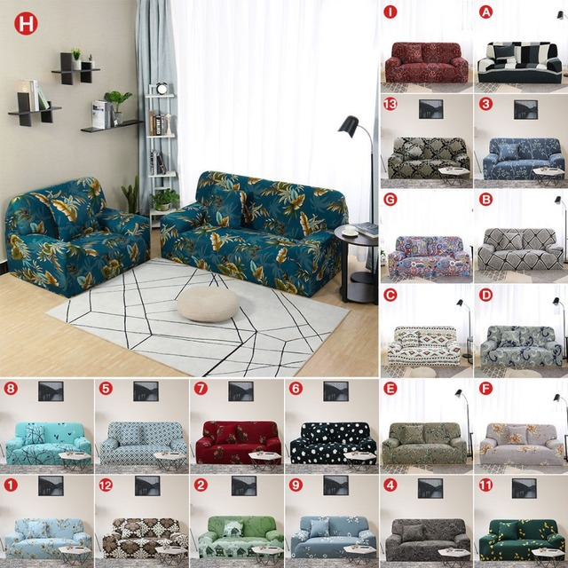 1 Piece Sofa Covers 1 2 3 4 Seater Floral Sofa Slipcover Furniture ...