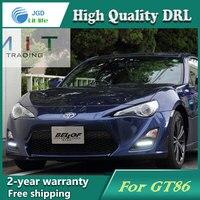 Бесплатная доставка! 12 В 6000 К СИД DRL дневного света чехол для Toyota GT86 2013 рамки противотуманных фар автомобиля стиль