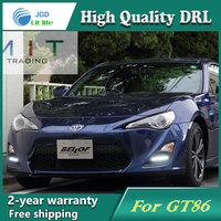 Free Shipping 12V 6000k LED DRL Daytime Running Light Case For Toyota GT86 2013 Fog Lamp