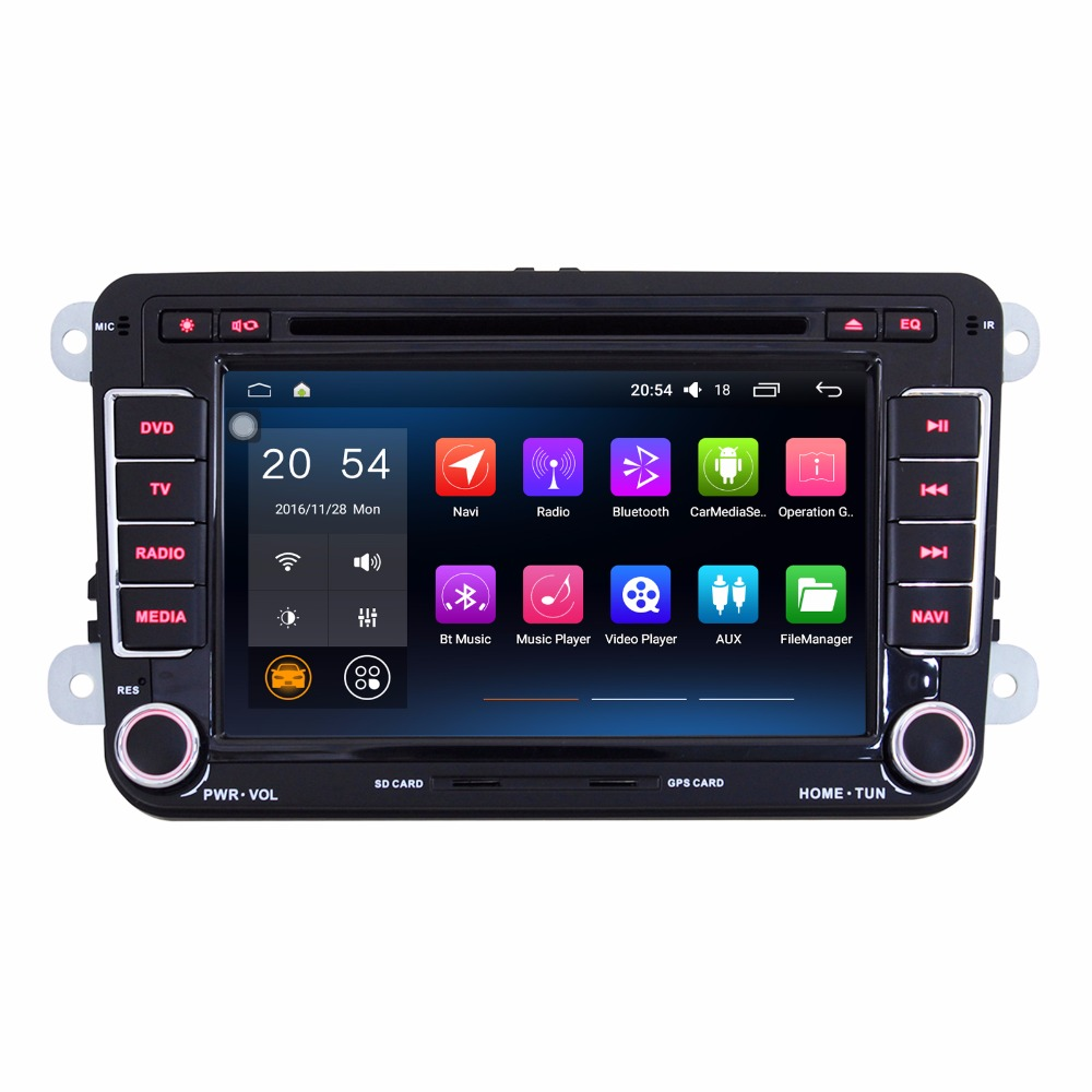 7 Quad Core 1024 600 2 Din Android 4 4 4 Auto Radio For Volkswagen VW