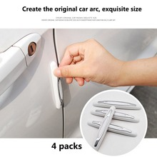 цена на 4pcs Door Edge Guard Strip Rubber Scratch Protector Anti-collision Car Styling Corner Bumper Protective Strip