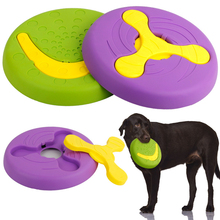 New Creative Pet Toy Flying Discs Throw Training Bite Molar Plastic Dog Chew  Products