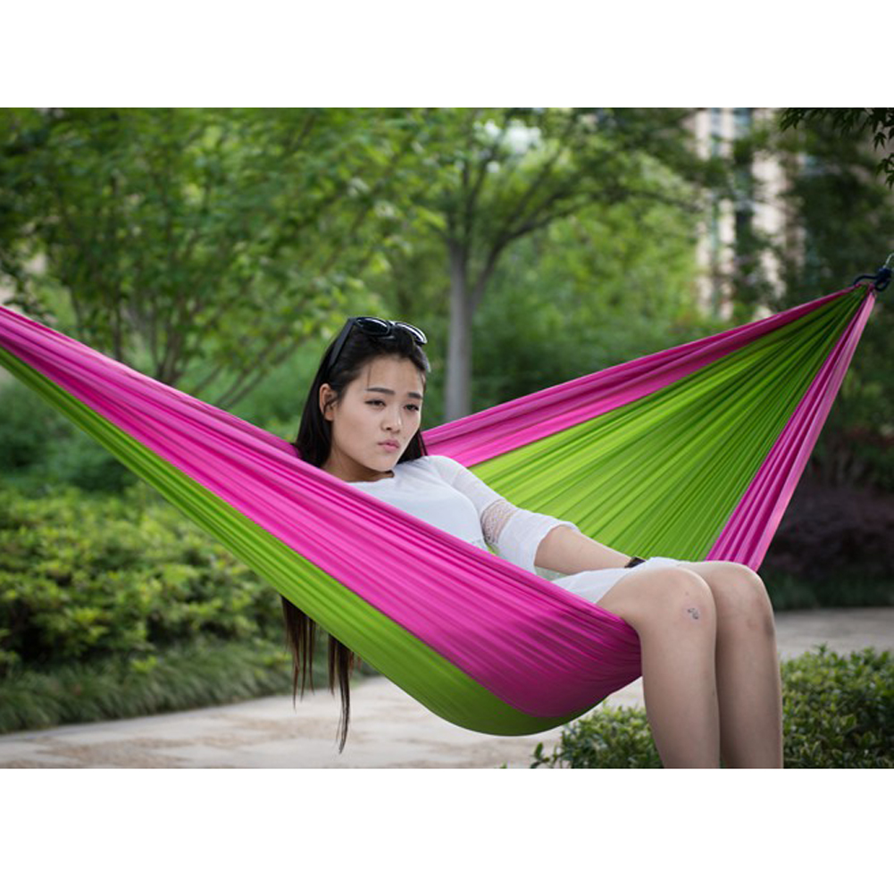 FF Double Hammock Garden Outdoor Camping Travel Furniture Portable Parachute The Swing Furniture Gammak Base Sleeping Bed Hamac furniture size hanging sleeping bed parachute nylon fabric outdoor camping hammocks double person portable hammock swing bed