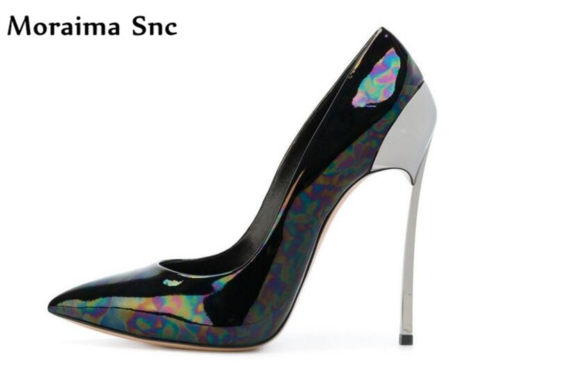 Moraima Snc hot selling 2018 high quality sexy pointed toe concise type shoes woman pumps shallow high heels  dress shoes