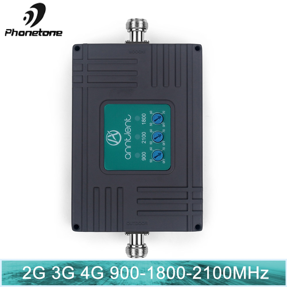 2G 3G Signal Booster Tri Band Cellular Booster LTE 2g 3g 4g 850 1900 1700 Mhz WCDMA UMTS Mobile Signal Repeater 3g 4G Amplifier