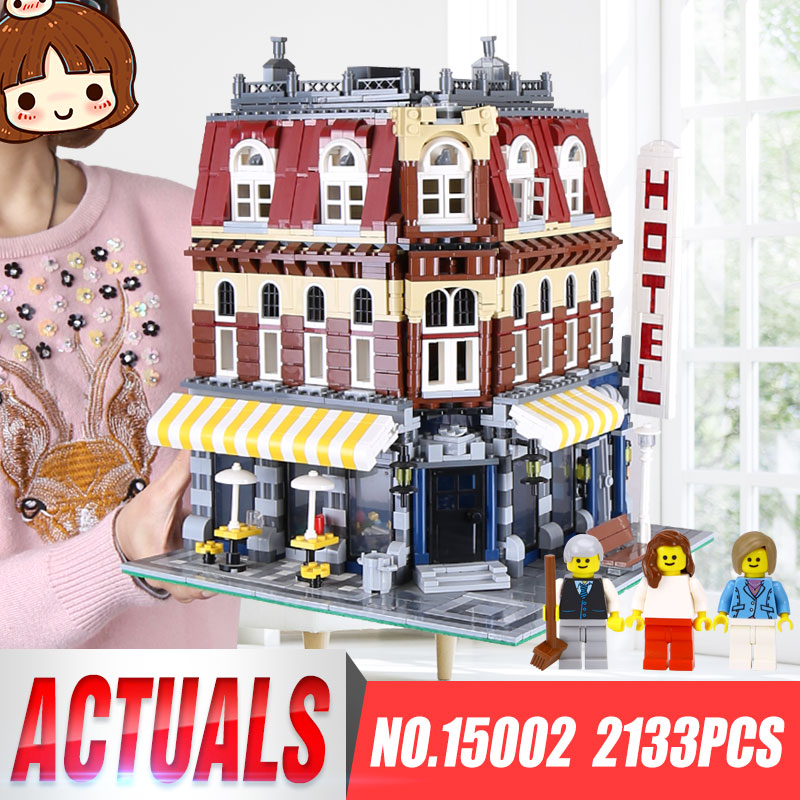 New Lepin 15002 2133Pcs Cafe Corner Model Building Kits Blocks Kid Toy Gift brinquedos Compatible legoing 10182 Educational Toys 2133pcs lepin 15002 building blocks bricks kits kid cafe corner diy educational toy children holiday gift 10182