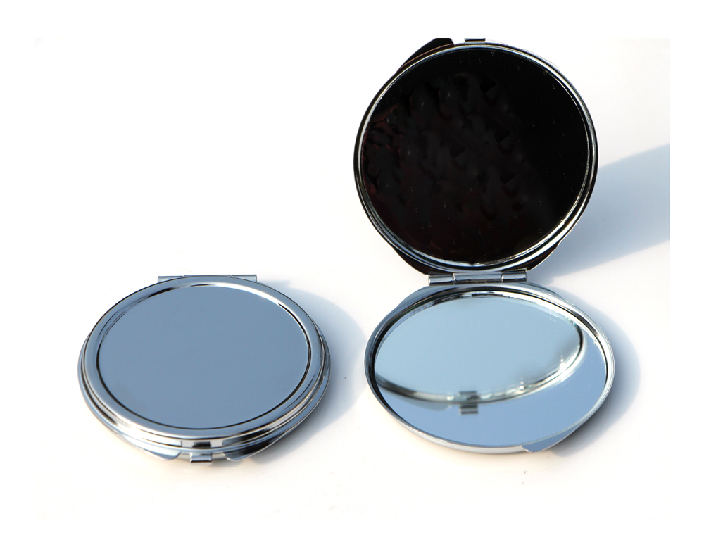 Silver pact mirrors 62mm makeup pacts wedding favor
