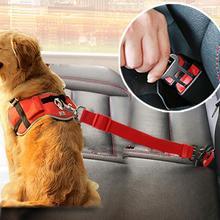 Поводок для собак, кошек, автомобилей, регулируемый ремень безопасности, поводок для маленьких и средних собак, дорожный зажим, товары для домашних животных, 5 цветов