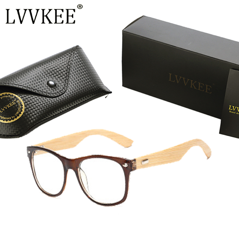 LVVKEE brand Wood Frame women Mens flat mirrors computer plain - Apparel Accessories