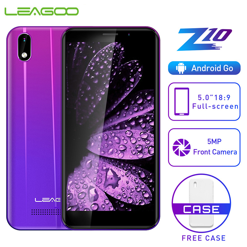 "LEAGOO Z10 Android Mobile Phone 5.0"" 18:9 full screen 1GB RAM 8GB ROM MT6580M Quad Core 2000mAh 5MP Camera 3G WCDMA Smartphone"