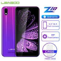 """LEAGOO Z10 telefon komórkowy z androidem 5.0 """"18:9 pełny ekran 1GB RAM 8GB ROM MT6580M czterordzeniowy 2000mAh 5MP aparat 3G WCDMA Smartphone"""