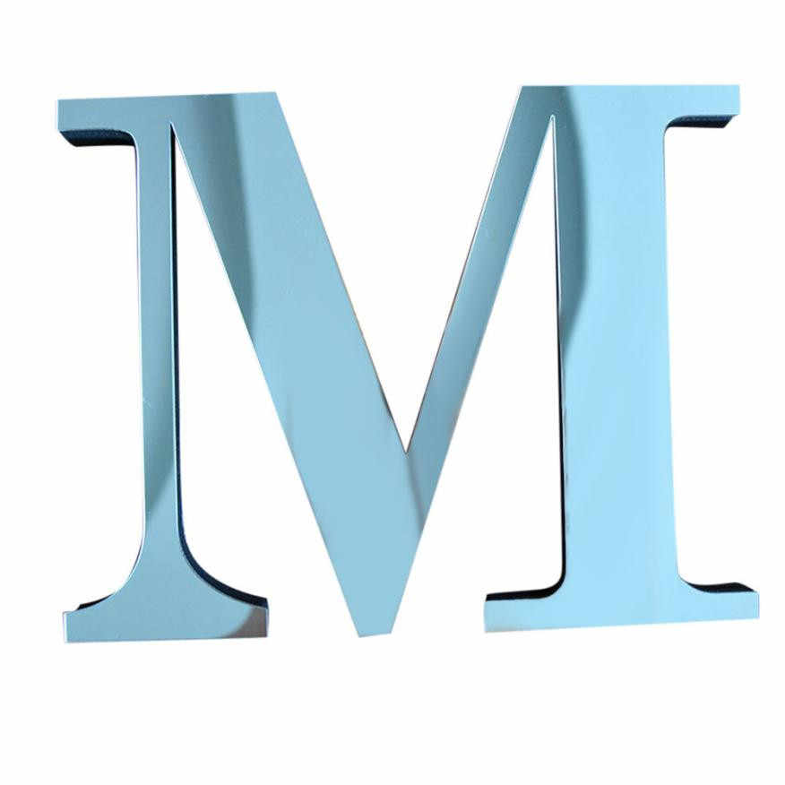 Single-piece Package Modern Acrylic Mirror Letter Sticker Wedding Birthday Party Home Decorations Wall Stickers on the wall