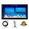 7 Pulgadas Android 4.4 Navegación Del GPS Del Coche 2Din Nuevo Nniversal Quad Core Bluetooth AV de Radio Reproductor de vídeo Dashboar PC Estéreo HD1028x600
