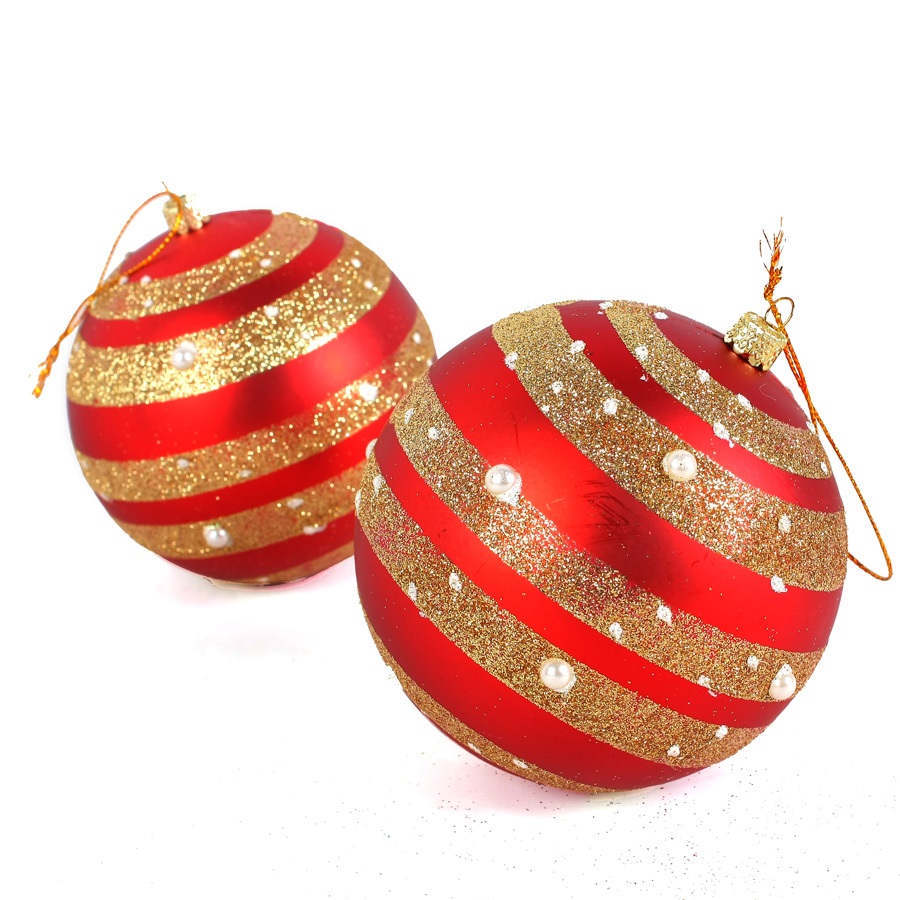 Aliexpress com buy 2pcs new round large 3 9in christmas balls baubles xmas tree decorations christmas ornament 5241 from reliable christmas ornaments