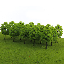70Pcs Plastic Model 3-9cm Trees Layout Train Railway Diorama Wargame Landscape Scenery HO OO Z TT Multi Scale Toys for Children(China)