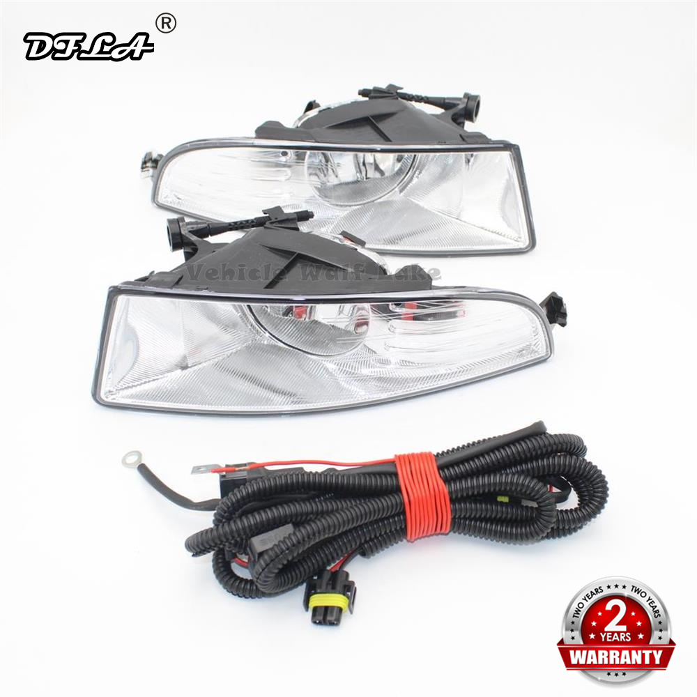 Car Fog Lamp And Wire For Skoda Octavia A5 A6 2009 2010 2011 2012 2013 Front Fog Lamp Fog Light With Bulbs And Wire