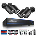 SANNCE 4CH 1080P CCTV DVR Recorder with 4 HD 1980*1080P Indoor/Outdoor Security Camera Systems