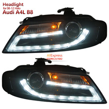 SONAR Brand for Audi A4 A4L A4L/B8 Projector Headlights 2008 year 2012 year with DRL light for Halogen model only цена