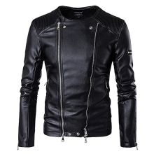 Zogaa 2019 кожаная куртка Men's PU Leather Jacket Men Fitness Fashion Male Moto & Bikerкожанная куртка мужская Leather Jacket