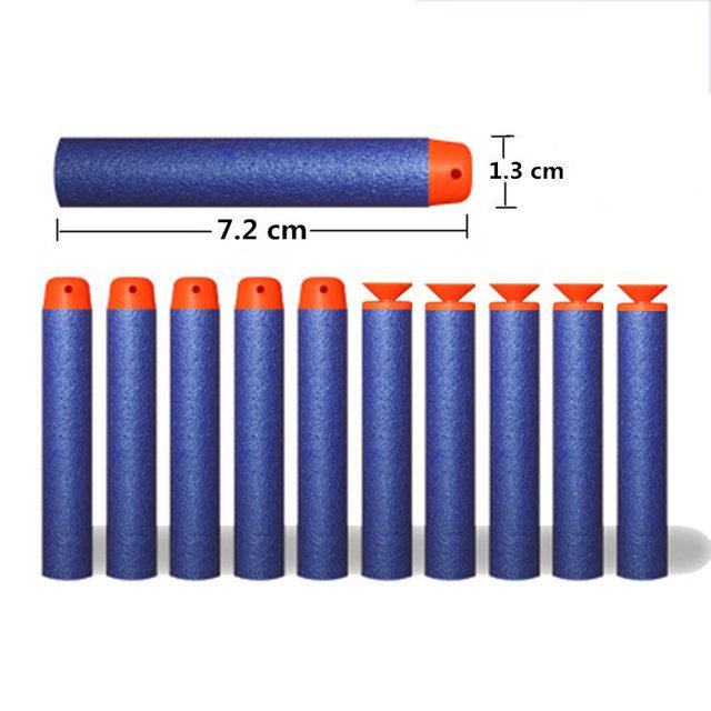 105pcs 7.2cm soft bullet for airguns plastic military sucker warhead dart hollow hole head for children bullets for nerf toy gun