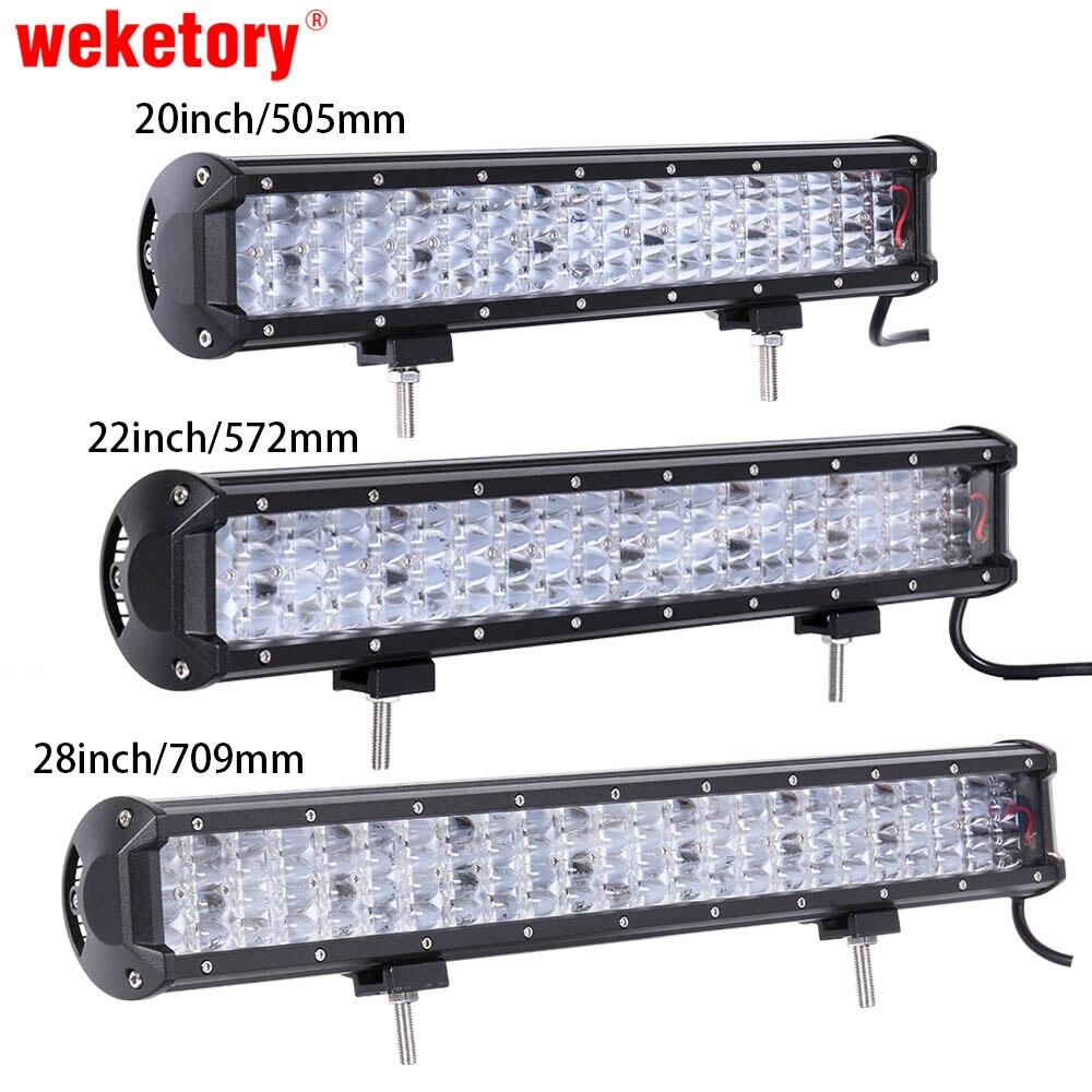 Weketory 20/22/28 pollice HA CONDOTTO LA Luce Bar Luce del Lavoro del LED LED Bar per Trattore Barca OffRoad 4WD 4x4 Camion SUV ATV 12 V 24 v
