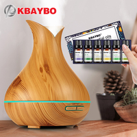 KBAYBO Ultrasonic Air Humidifier Wood Grain Electric Aroma Essential Oil Diffuser For Home Tea Tree Lavender