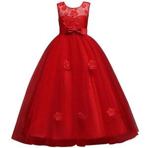 Image 5 - Mới Công Chúa Bé Gái Váy Đầm Ren Hoa Bé Gái Váy Đầm Voan Bé Gái Cuộc Thi Áo Đầu Tiên Hiệp Thông Đầm Đảng Đồ Bầu