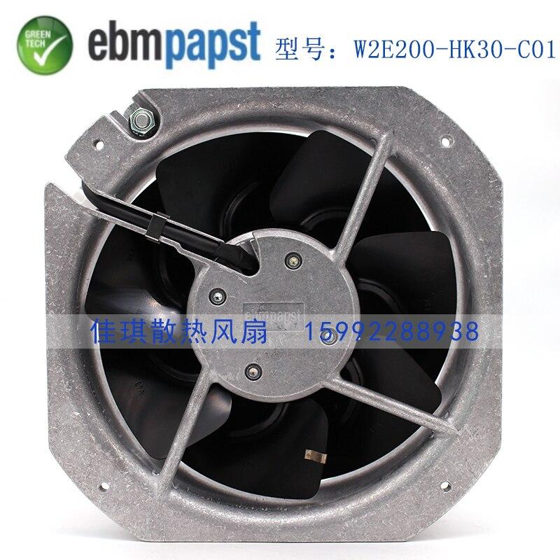 цена Original new papst W2E200-HK38-C01 AC 230V 12/39W 0.29/0.3A 225x225x80mm Server Square fan онлайн в 2017 году