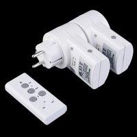New EU Plug 2pcs Socket Pack 230v 50Hz 10A Remote Control Wireless Power Outlets Light Switch