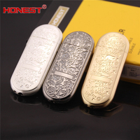 High Quality HONEST Mini Men S Metal Gas Lighter New Design Refill Butane Cigarette Lighter Gadgets