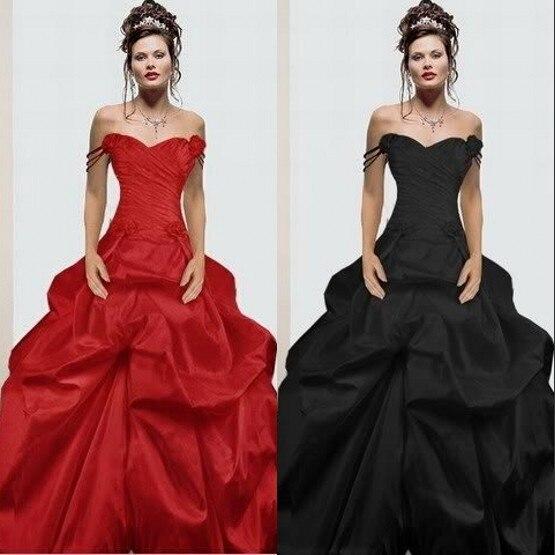 2017 rojo negro góticos vestidos de novia robe de mariage casamento