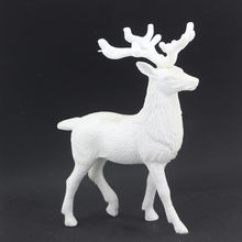 christmas reindeer ornaments xmas decorations for home plastic white deer gift shop office tablefestival party decor f1023