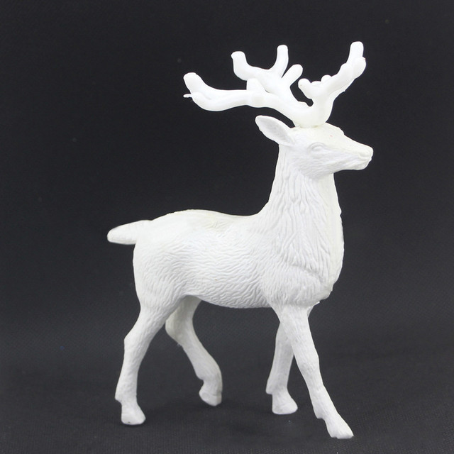 White Deer Christmas Xmas Reindeer Kid Doll Decor Home Decoration Party Ornament High Quality 2019 New