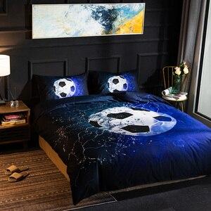 Image 2 - Parure de lit avec impression en 3D, housse de couette, de Football, de Baseball, de basket ball, décoration de chambre à coucher