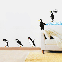 Newest Penguin Wall Sticker For Kids Room Home Decoration Accessories Cartoon Animal Decals Decor On the