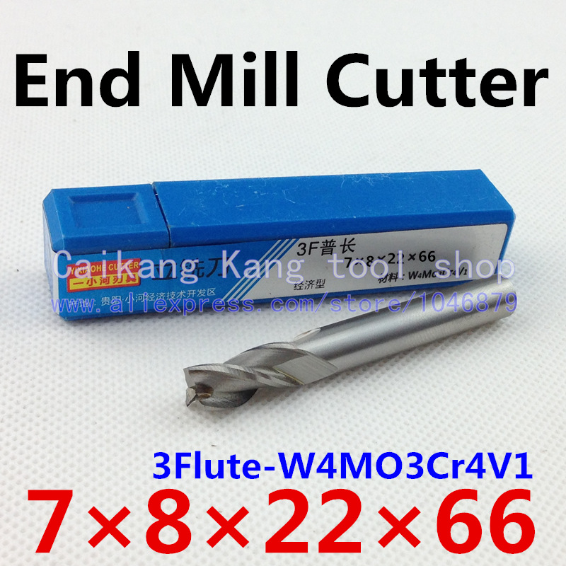 New 3Flute Head 7mm End mills Milling cutter Use For Aluminum CNC bits tools W4Mo3Cr4V1 HSS & Aluminium 3F7*8*22*66mm учимся рисовать гуашью как великие экспресс курс