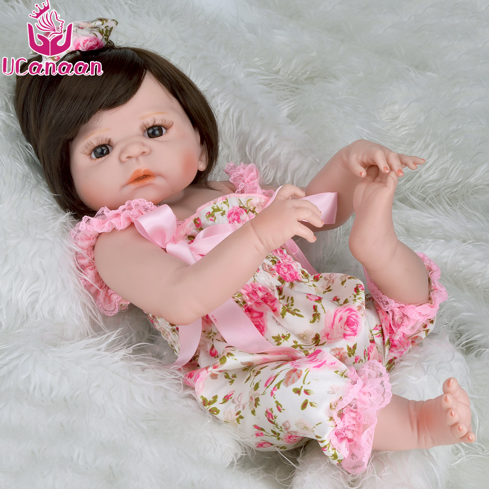 UCanaan 22inch Reborn Dolls Full Vinyl Silicone Doll Reborn Baby Dolls Toys for Girl Best Birthday Gifts for Children thomas earnshaw es 8014 01