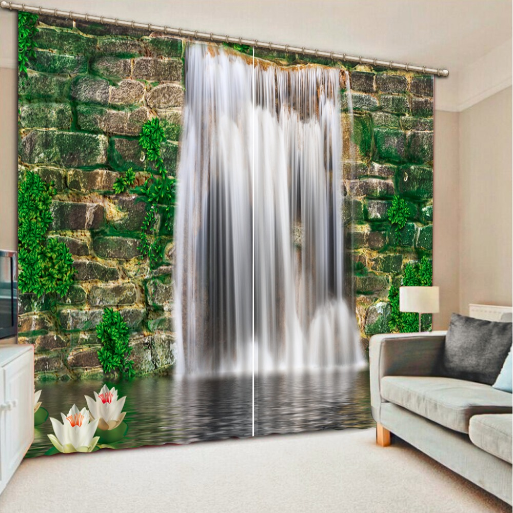Custom High Quality Waterfall Landscape 3d Photo Blackout