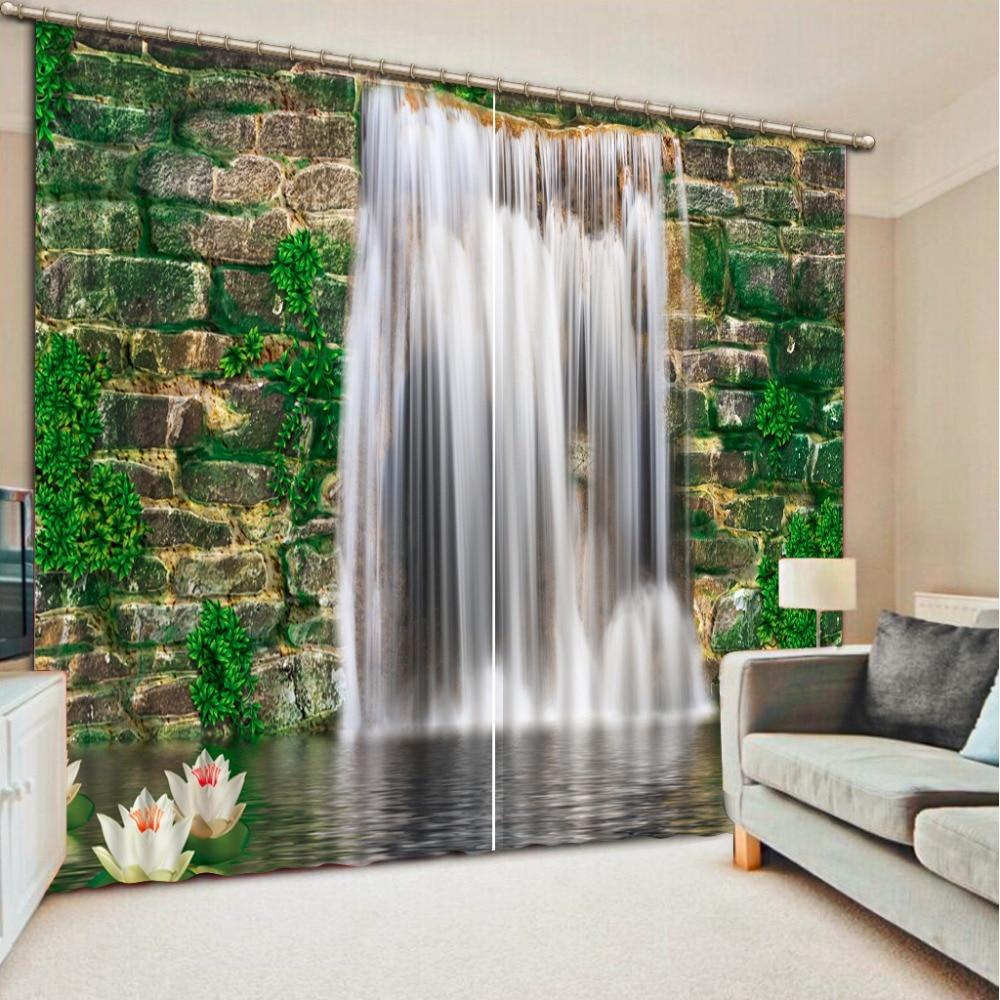 custom High quality Waterfall landscape 3D Photo Blackout