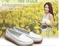 Свободного покроя офис рабочий обувь натуральная кожа женщины обувь скольжение - на балетки комфорта небуксующий обувь H26062