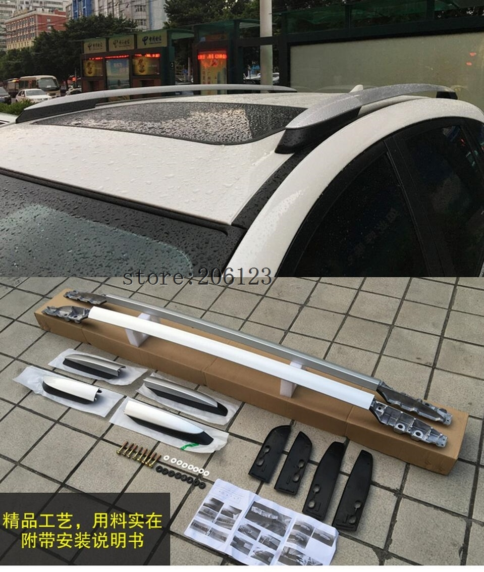 Roof Rack side Rails luggage carrier bars For Toyota RAV4 2013 2014 2015 2016 2017 oslamp roof rack cross bar 75kg 165lbs for toyota highlander xle 2014 2017 travel luggage carrier