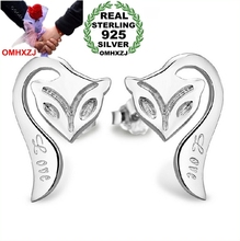OMHXZJ WHOLESALE Fashion jewelry firefox REAL S925 STERLING SILVER STUD EARRINGS YS77